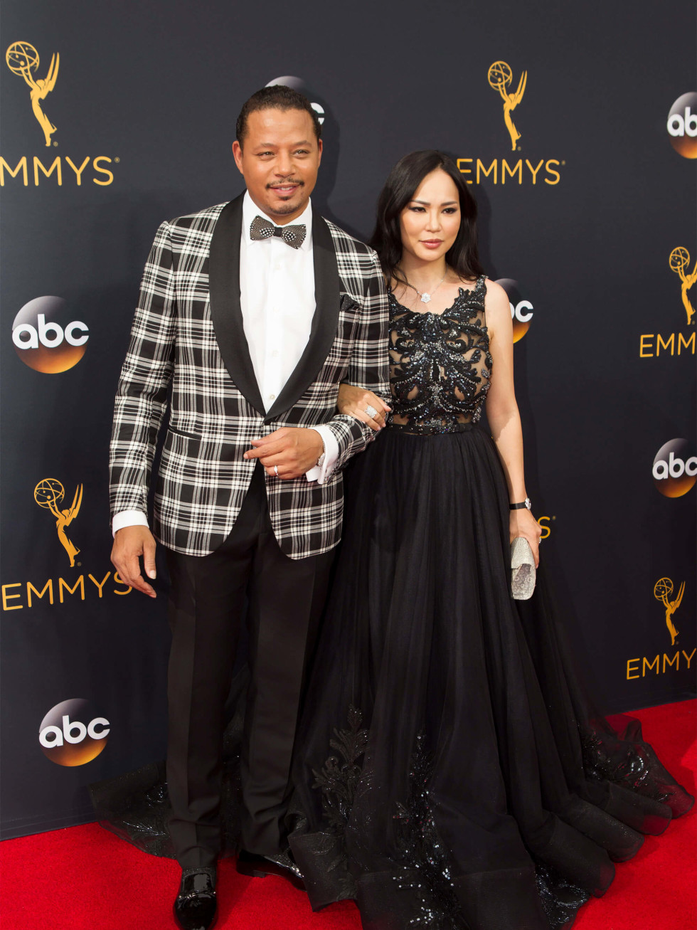 Terrence Howard at Emmy in checked tux