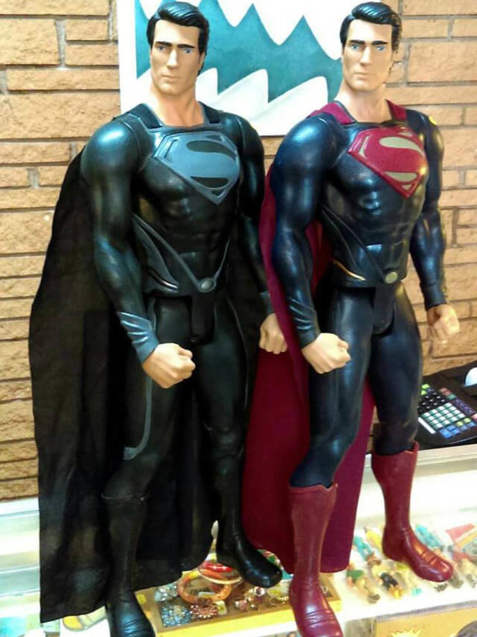 Superman figurines at Piranha Vintage store in East Dallas