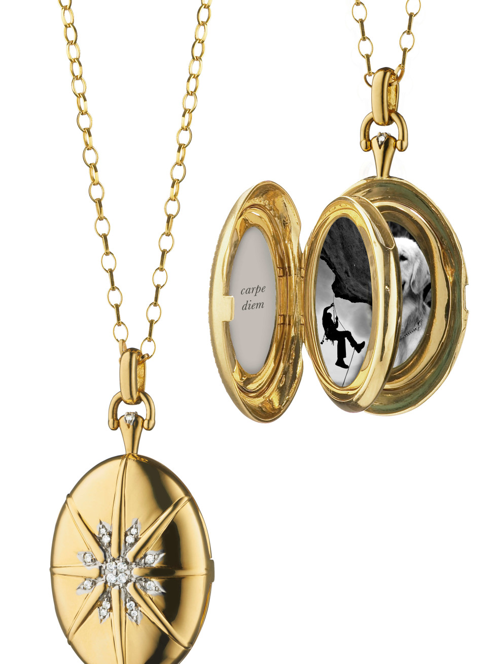 Monica Rich Kosann multiple locket The Four