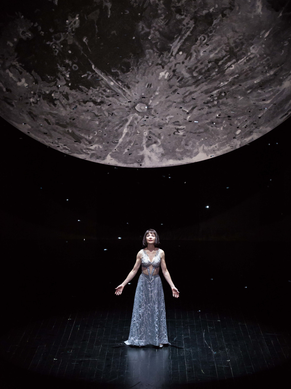 Josie de Guzman as Titania in the Alley Theatre's production of A Midsummer Night's Dream.