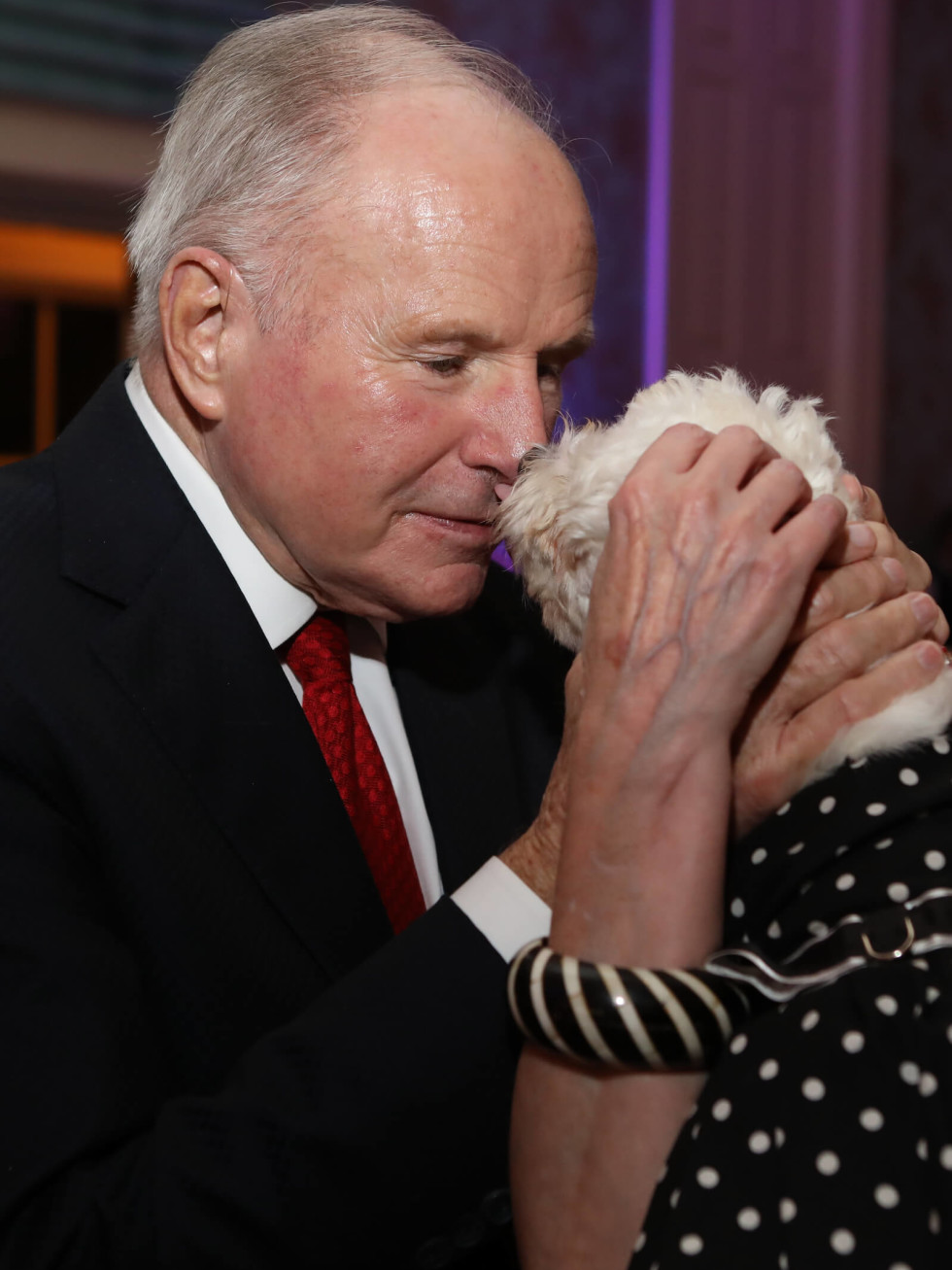 Don Sanders and Little Orphan Annie at BARC Gala