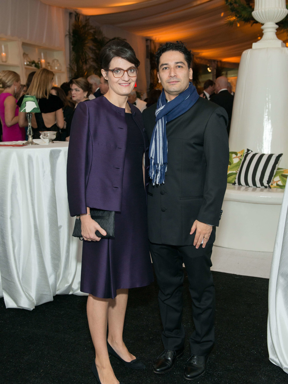 Jones Hall 50th Ball, Julia and Andres Orozco Estrada (Houston Symphony conductor)