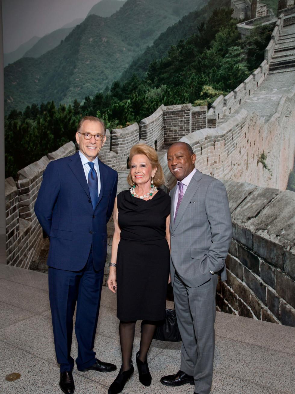 MFAH Emperors Treasures dinner, Gary Tinterow, Philamena Baird, Mayor Sylvester Turner