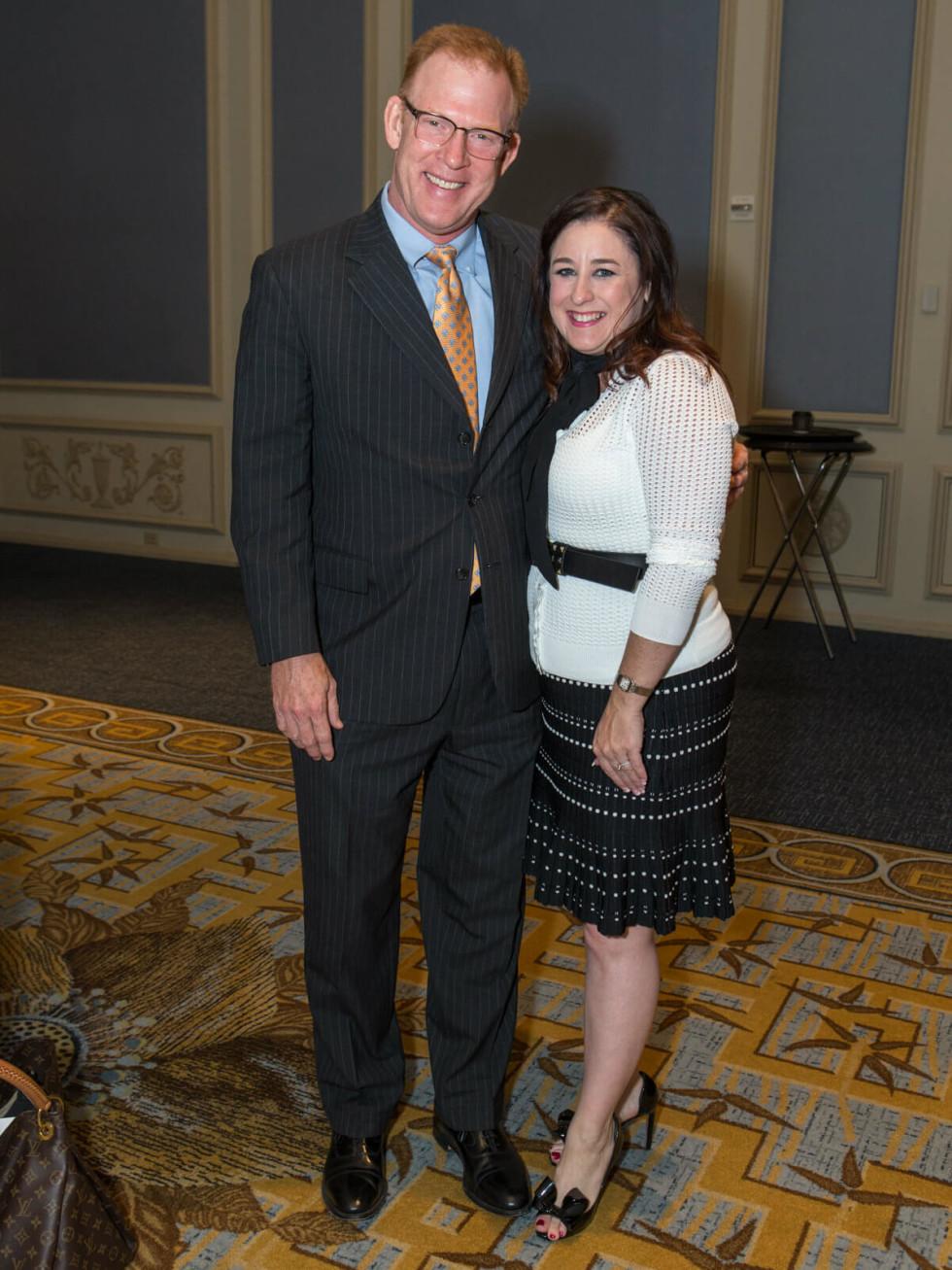 Darren Wickham and Junior League of Dallas Financial Vice President Melissa Wickham