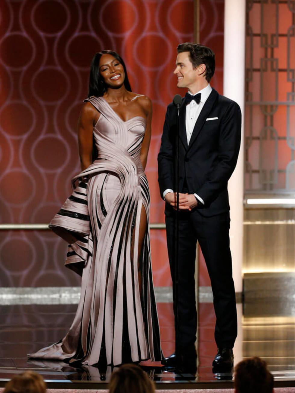 Naomi Campbell, Matt Bomer at Golden Globe