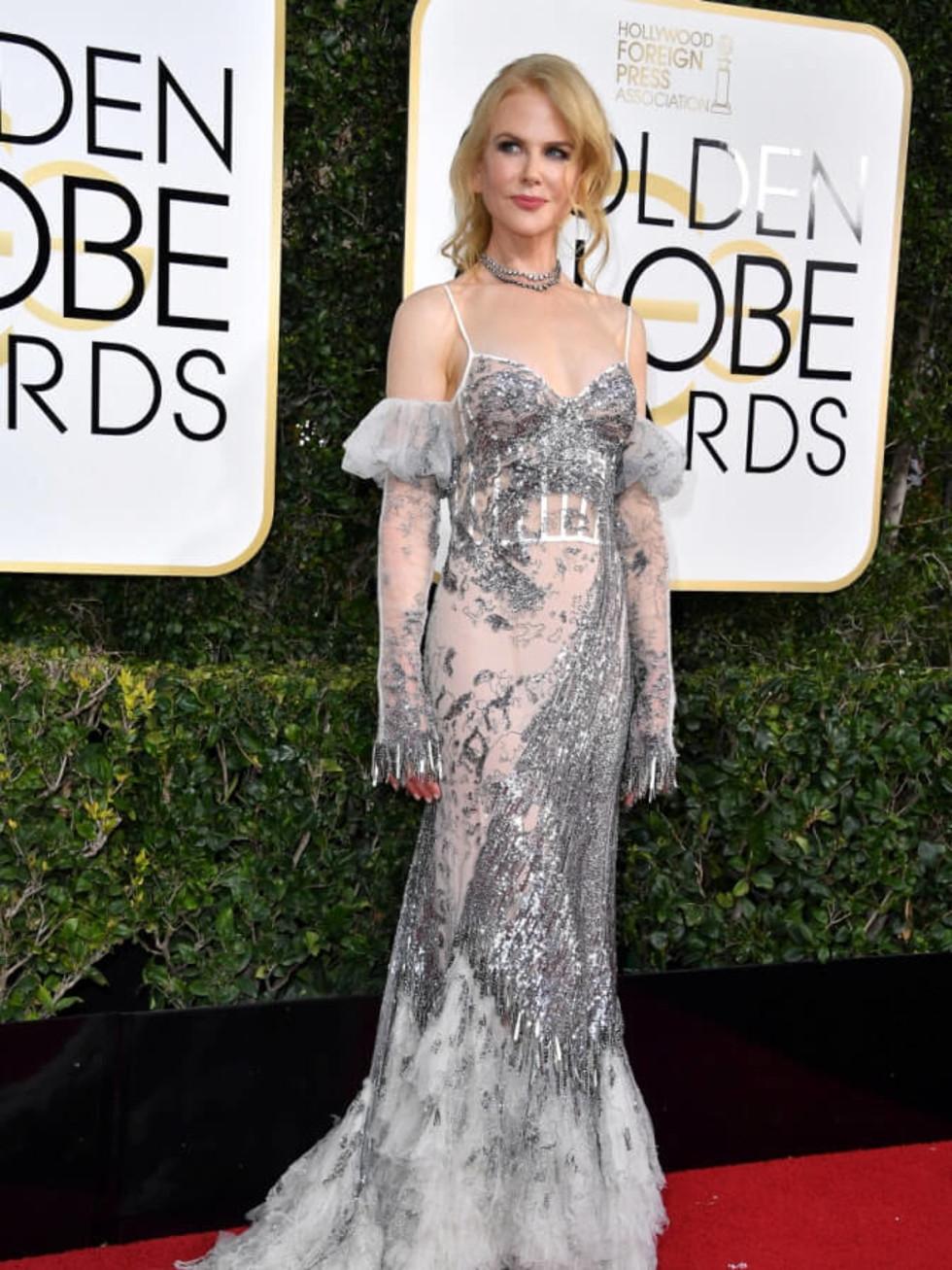 Nicole Kidman in Alexander McQueen at Golden Globe