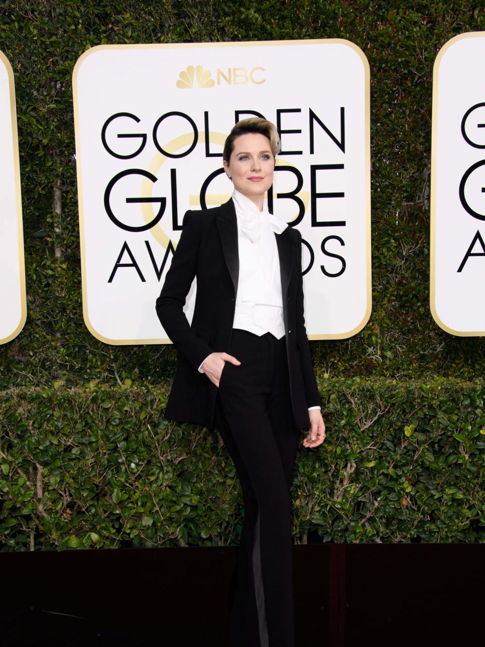 Evan Rachel Wood at Golden Globes 2017