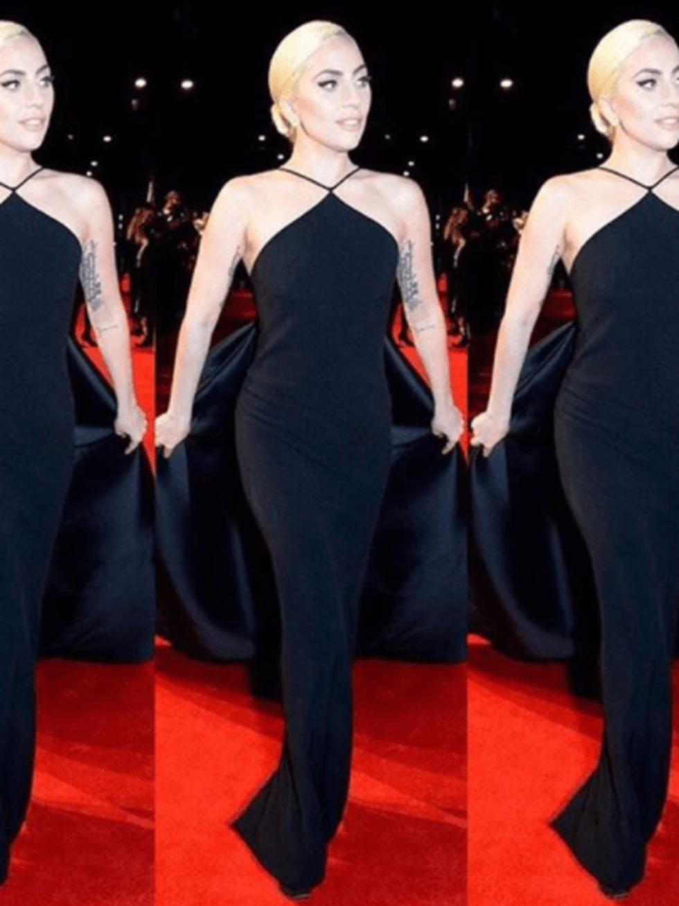 Lady Gaga in Brandon Maxwell at British Fashion Awards