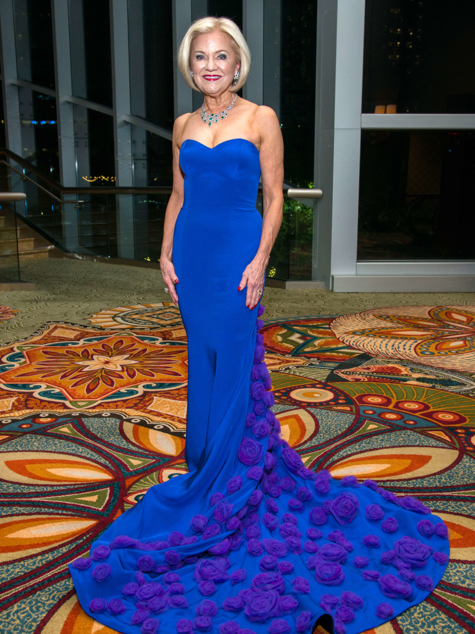 Houston, Women of Distinction fashionable gowns, Feb 2017, Jo Furr