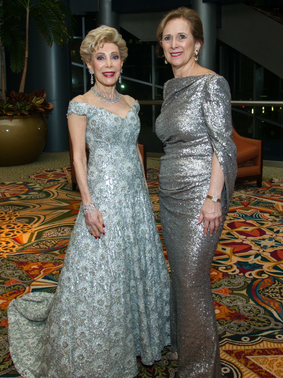 Houston, Women of Distinction fashionable gowns, Feb 2017, Margaret Alkek Williams, Franelle Rogers