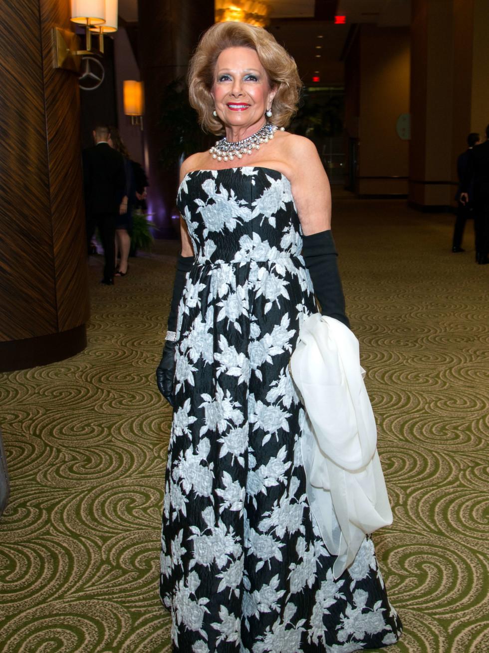 Houston, Women of Distinction fashionable gowns, Feb 2017, Philamena Baird