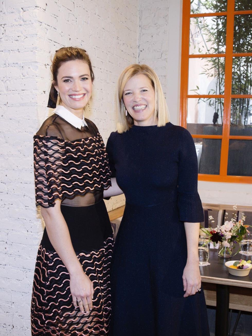 Mandy Moore at Lela Rose fall 2017 collection at New York Fashion Week