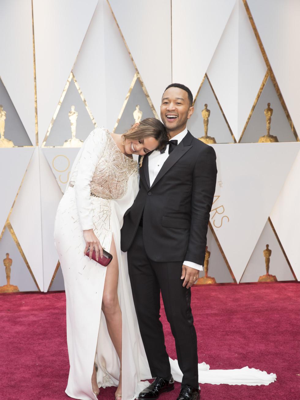 Chrissy Teigen and John Legend at Oscars 2017