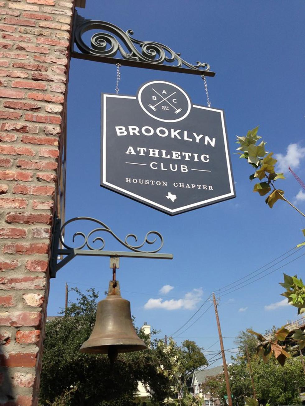 Brooklyn Athletic Club, Houston Chapter, sign