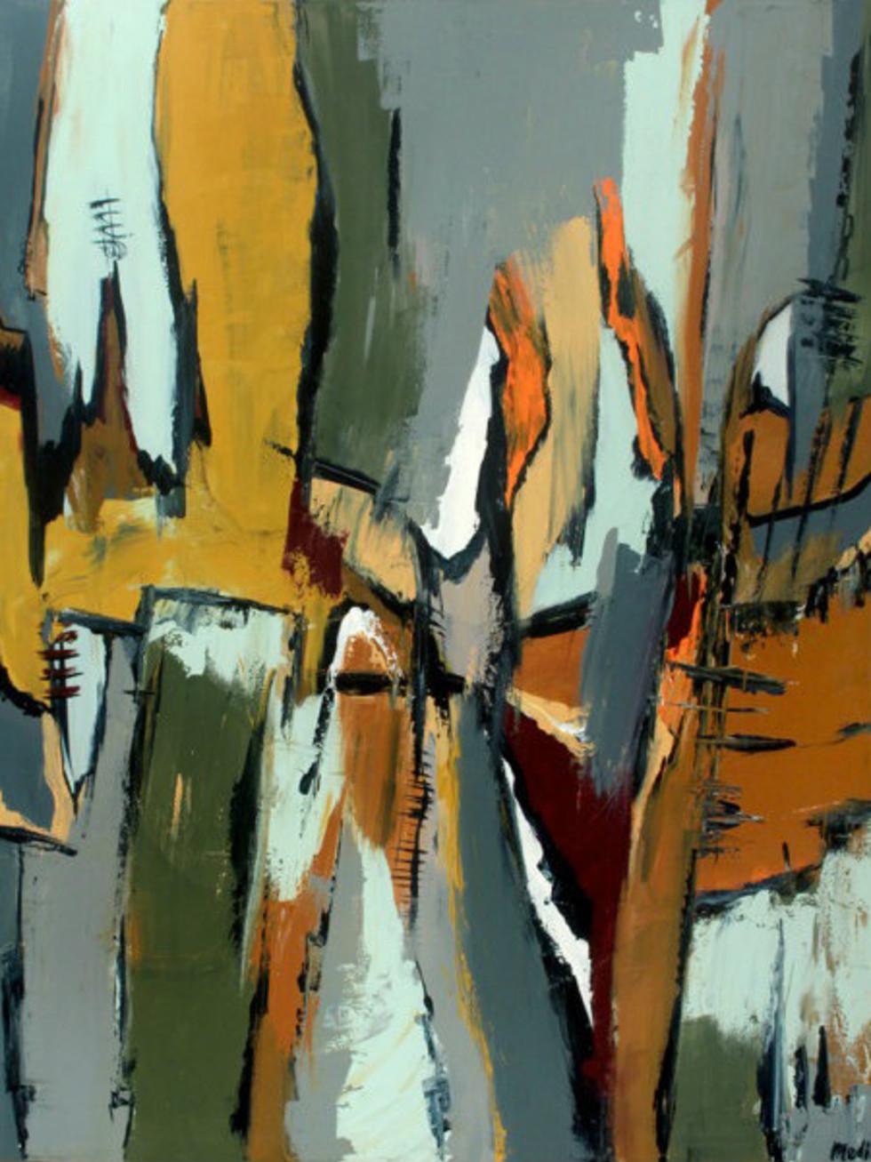 "Edgar Medina ""Fortitude"" painting"