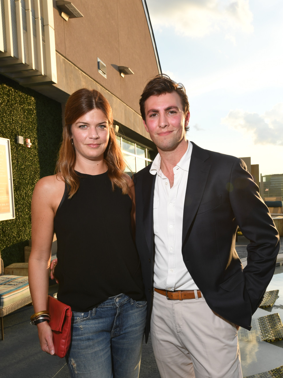 Laura Parsons, Matt Vandever at Sabores chef party