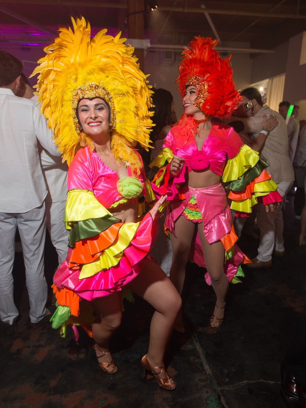 Samba dancers at Young Friends of Wilkinson Center White Party 2016