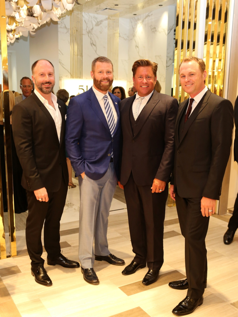 Saks Opening Dinner for HGO 4/16, Tony Bradfield, Kevin Black, Brian Teichman, Andrew Cordes