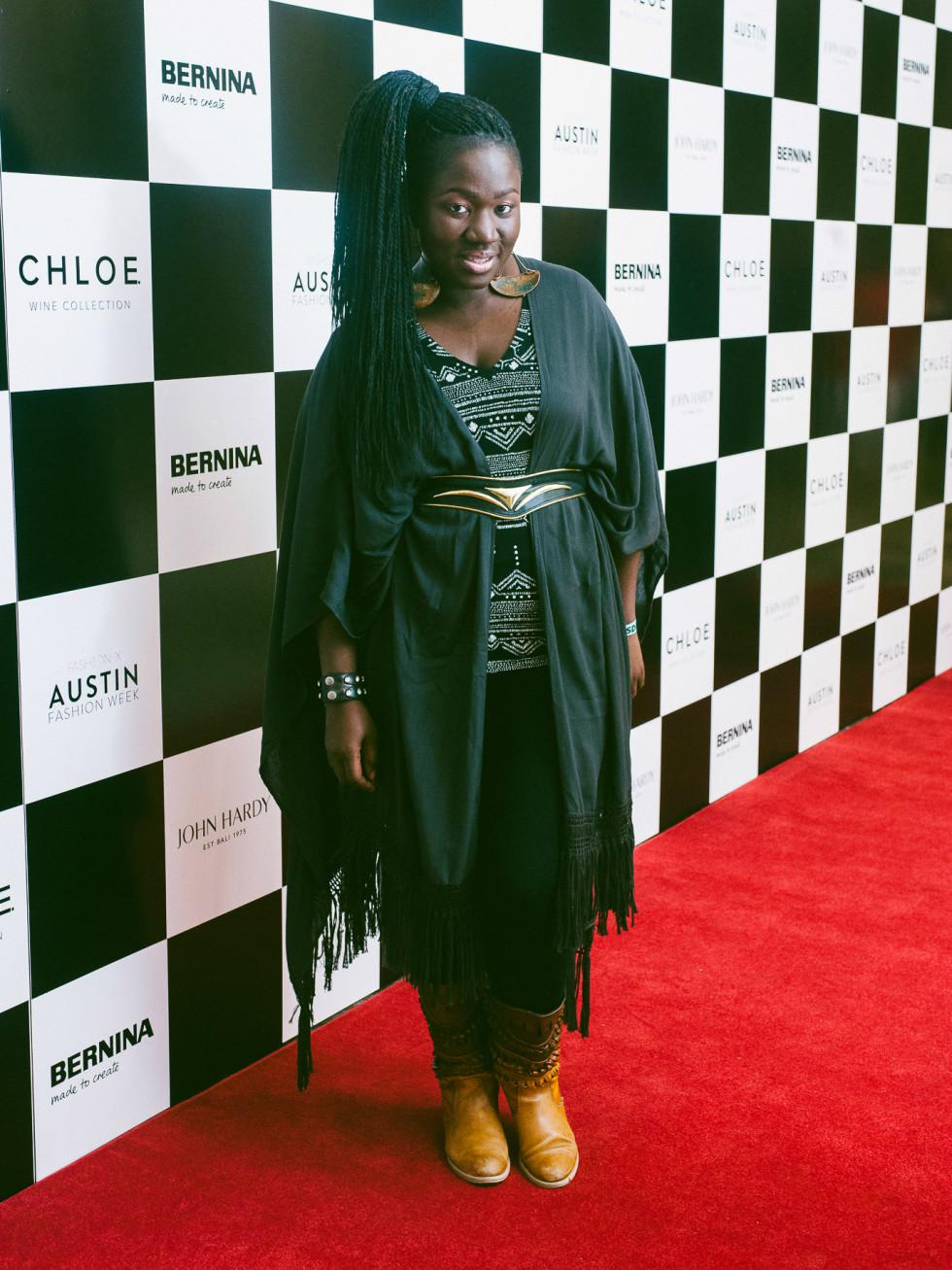 Austin Fashion Week 2016 red carpet Korto Momolu