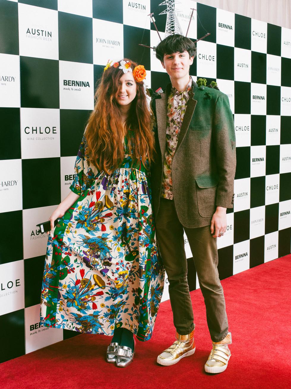 Austin Fashion Week 2016 red carpet Sloane Lenz Felix Lenz