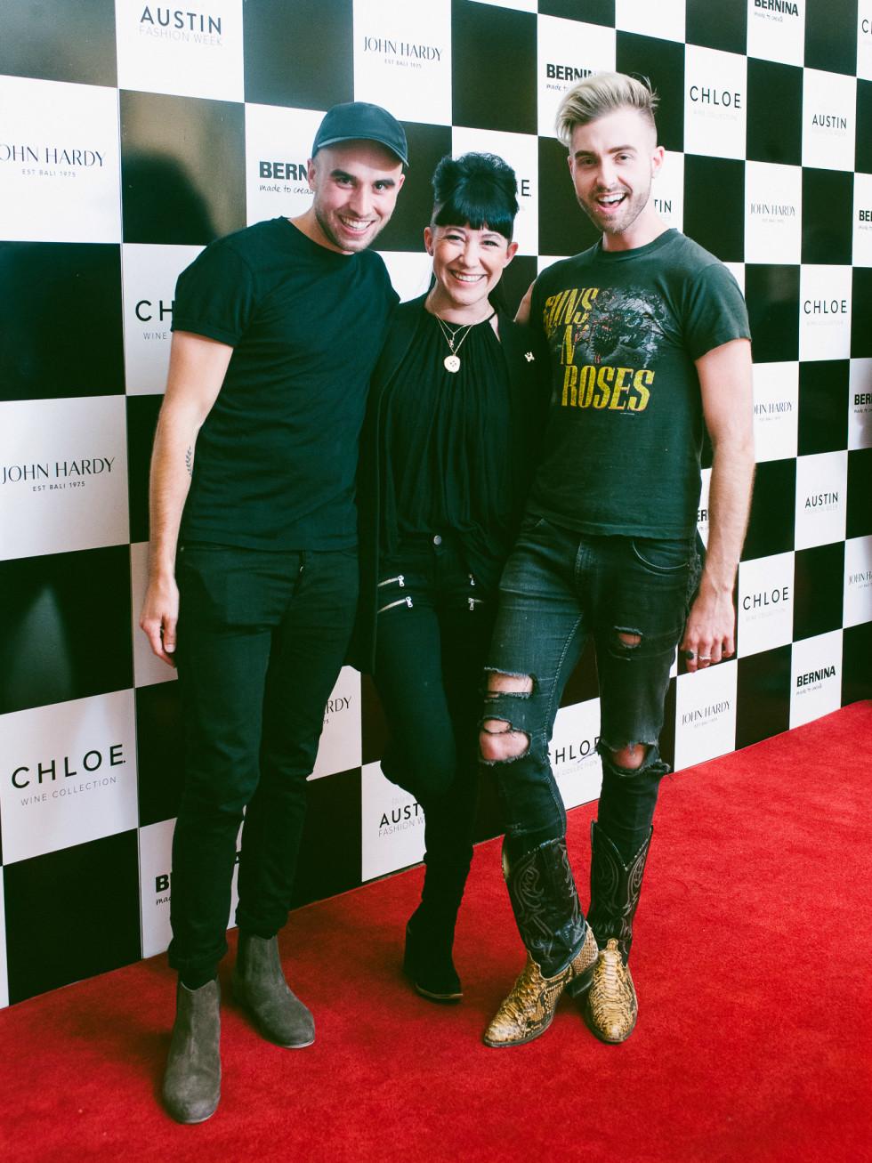 Austin Fashion Week 2016 red carpet Sean Kelly Michelle Lesniak Gunnar Deatherage