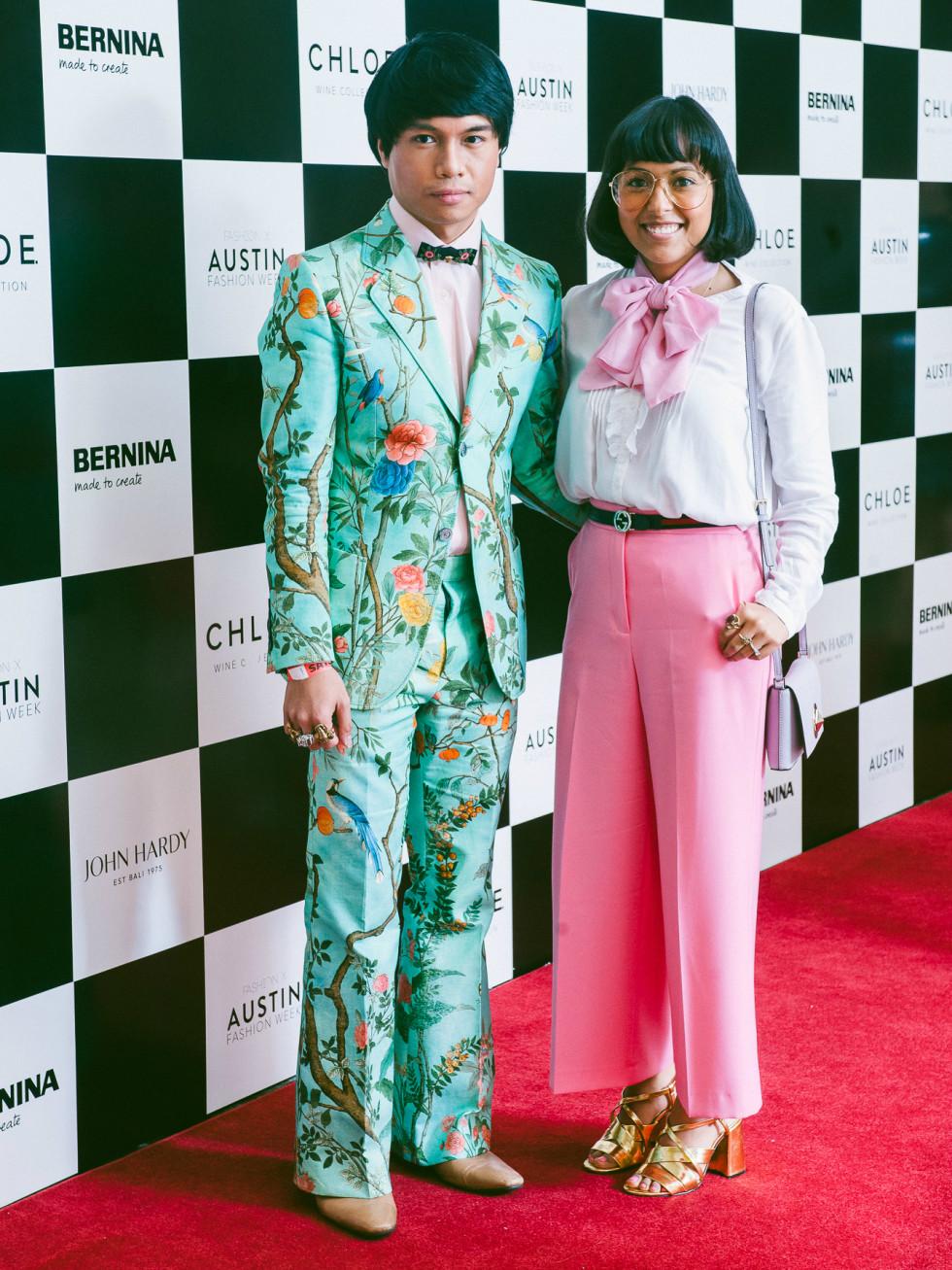 Austin Fashion Week 2016 red carpet Ralph Macabitas Yanira Leon