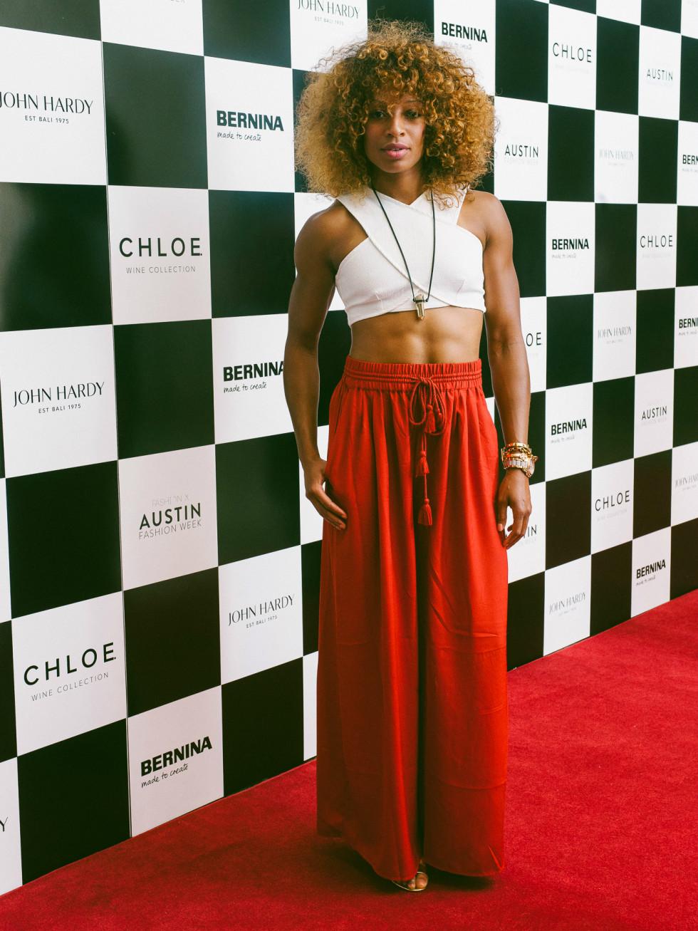 Austin Fashion Week 2016 red carpet Natasha Hastings