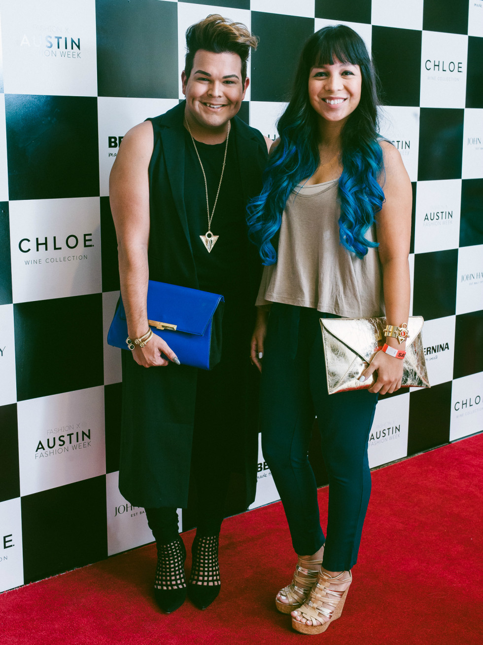 Austin Fashion Week 2016 red carpet Dominic Alonzo Samantha Plasencia