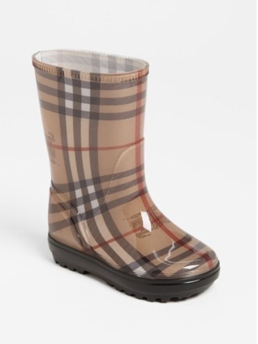 Rain boots, Burberry, $150, babies to age 12