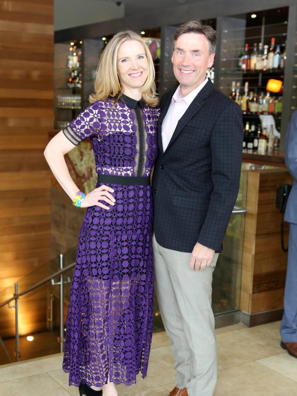 Houston Ballet Barre dinner, April 2016 Kristen McDaniel, Steve McDaniel
