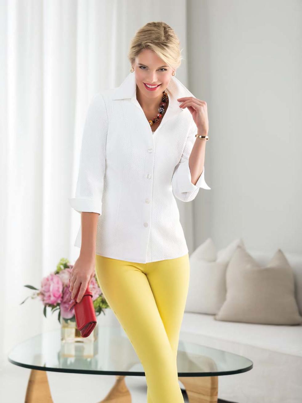 Nina McLemore white tunic
