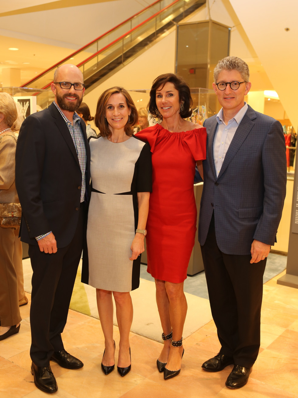 Holocaust Museum Houston Butterfly Project, March 2016, Christopher Tribble, Julie Kinzelman, Heidi Gerger (Board Member), David Gerger