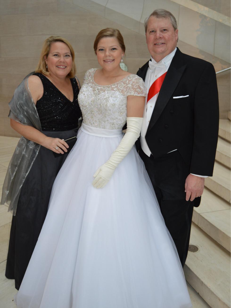 Madeline, Margaret and Fred Hamm
