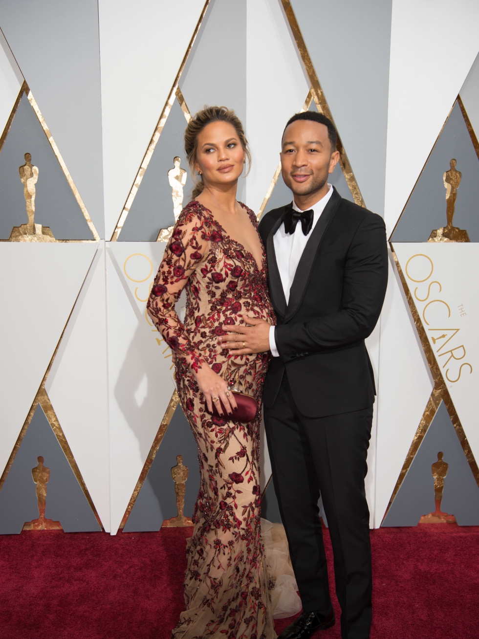 Chrissie Teagen and John Legend at Oscars