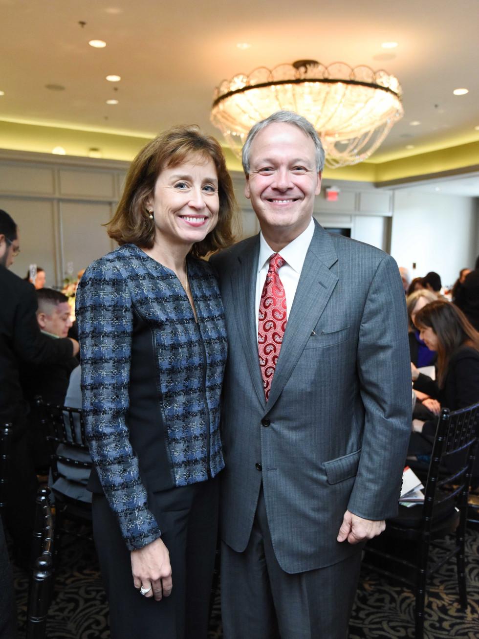 El Centro luncheon, Feb. 2016, Dr. Julie Boom, Dr. Marc Boom