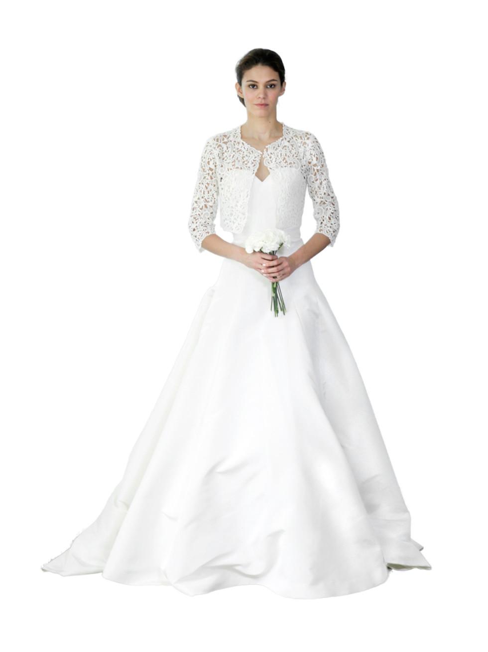 Oscar de la Renta bridal bolero