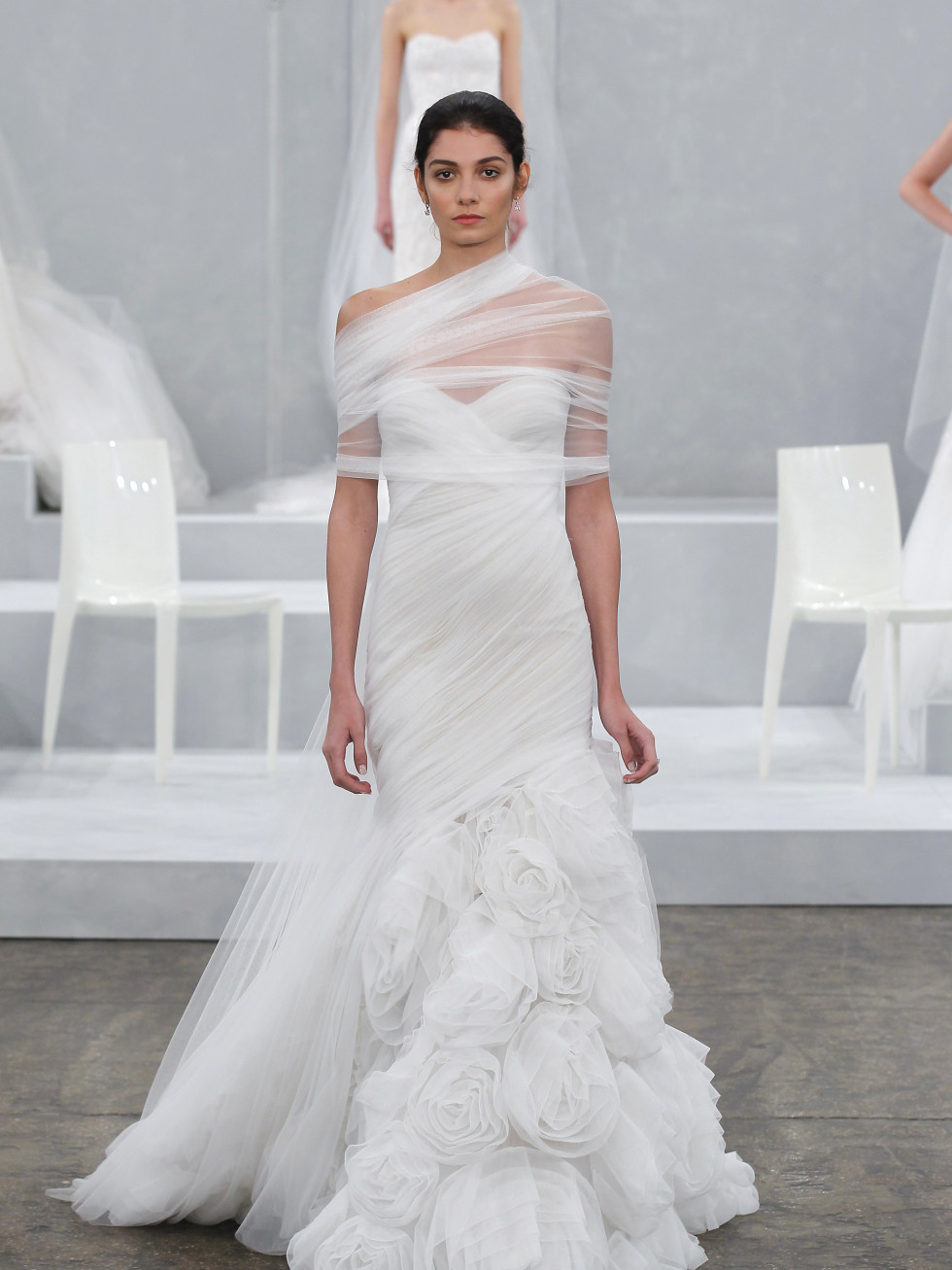 Escape wedding dress from Monique Lhuillier