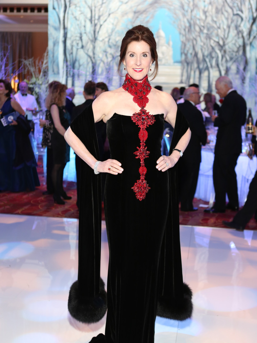 Houston Ballet Ball, Feb. 2016,  Phoebe Tudor in Zang Toi