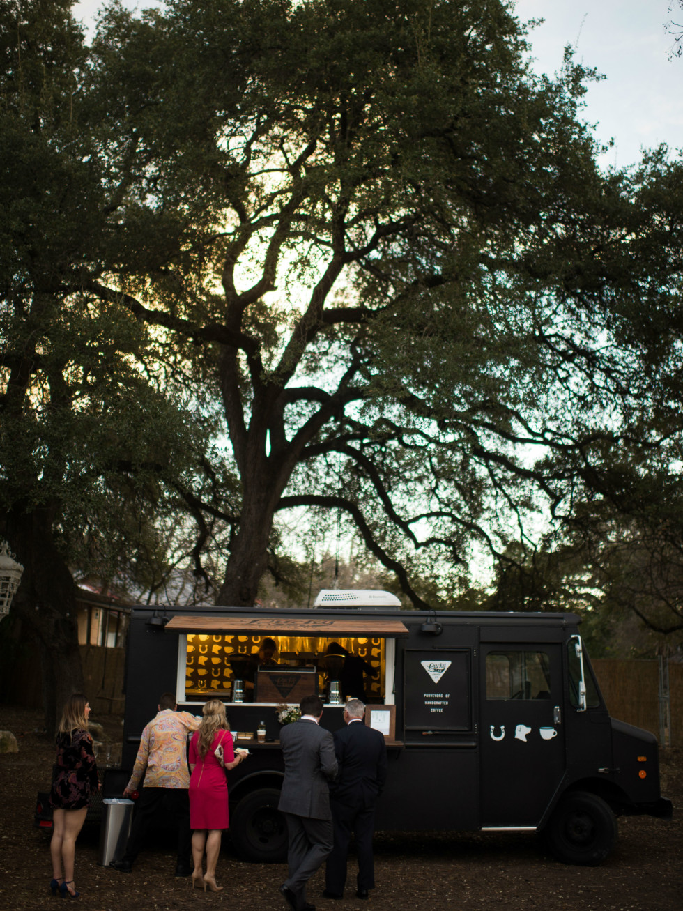 Katie Van Dyk Ben Nelson real wedding-food truck