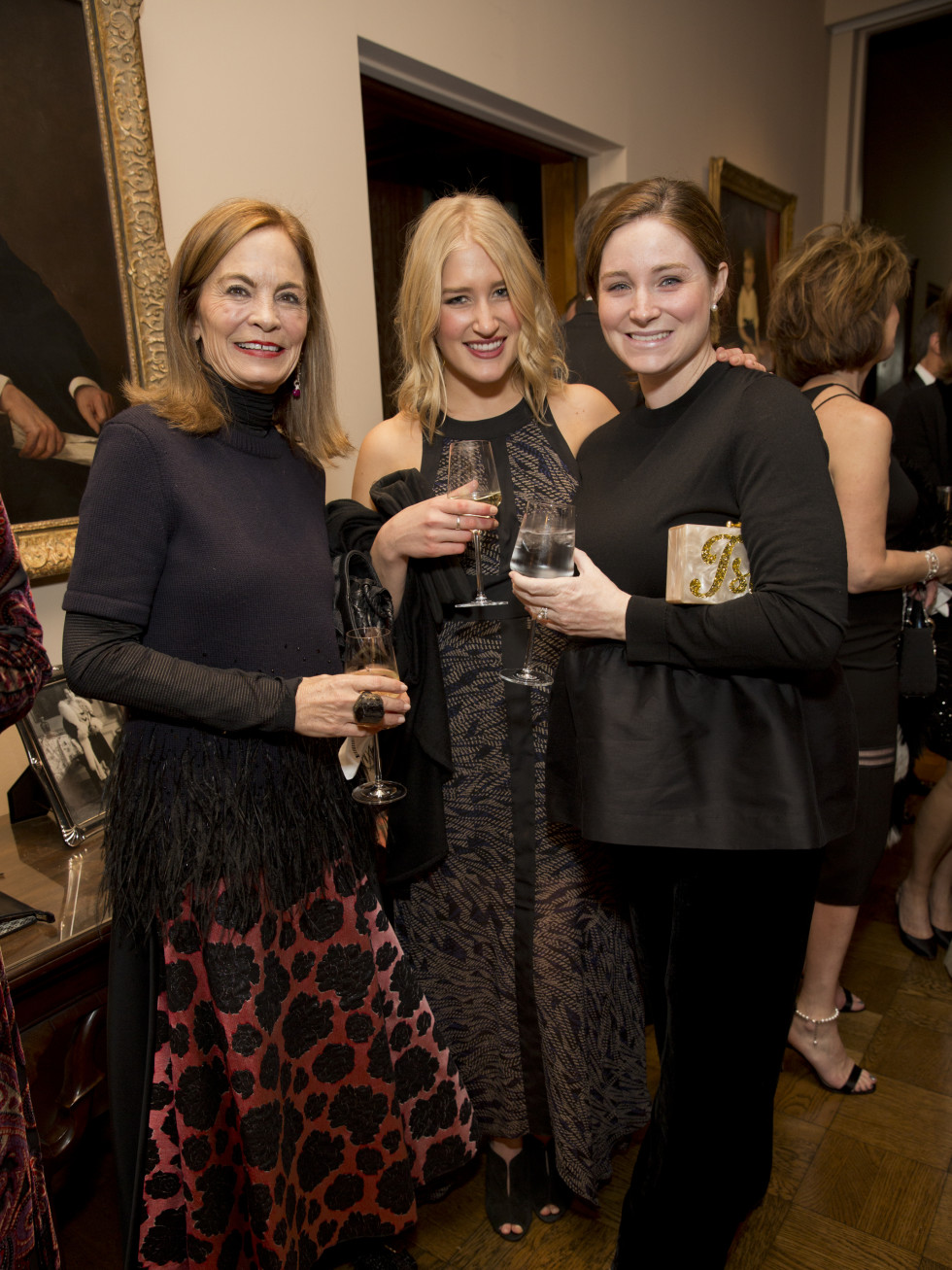 Rienzi society dinner, Feb. 2016, Cindy Thorp; Ann Wolpert; Isla Jornayvaz