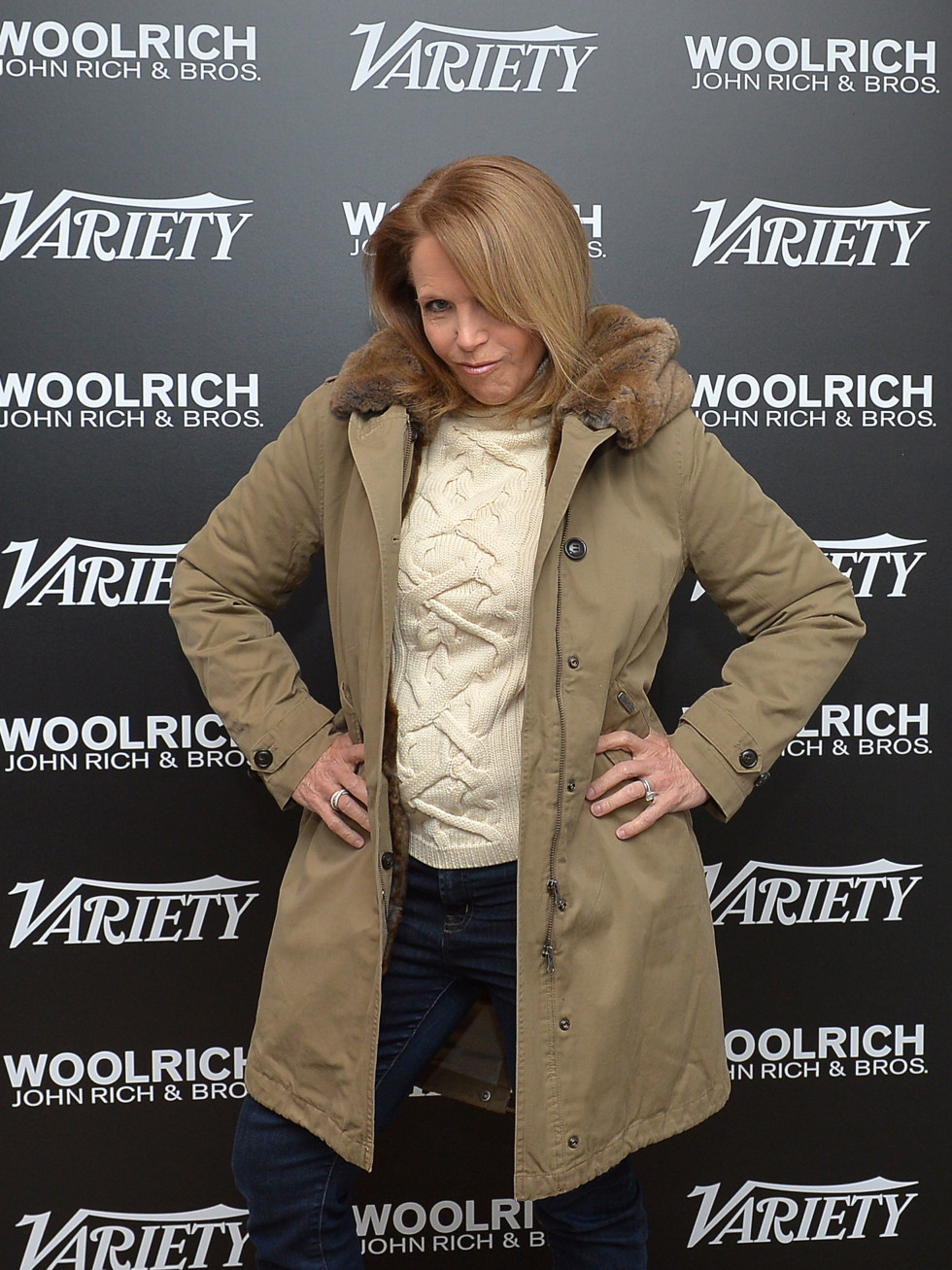 Katie Couric vamps at Sundance FIlm Festival The Variety Fandango Studio presented by Dockers