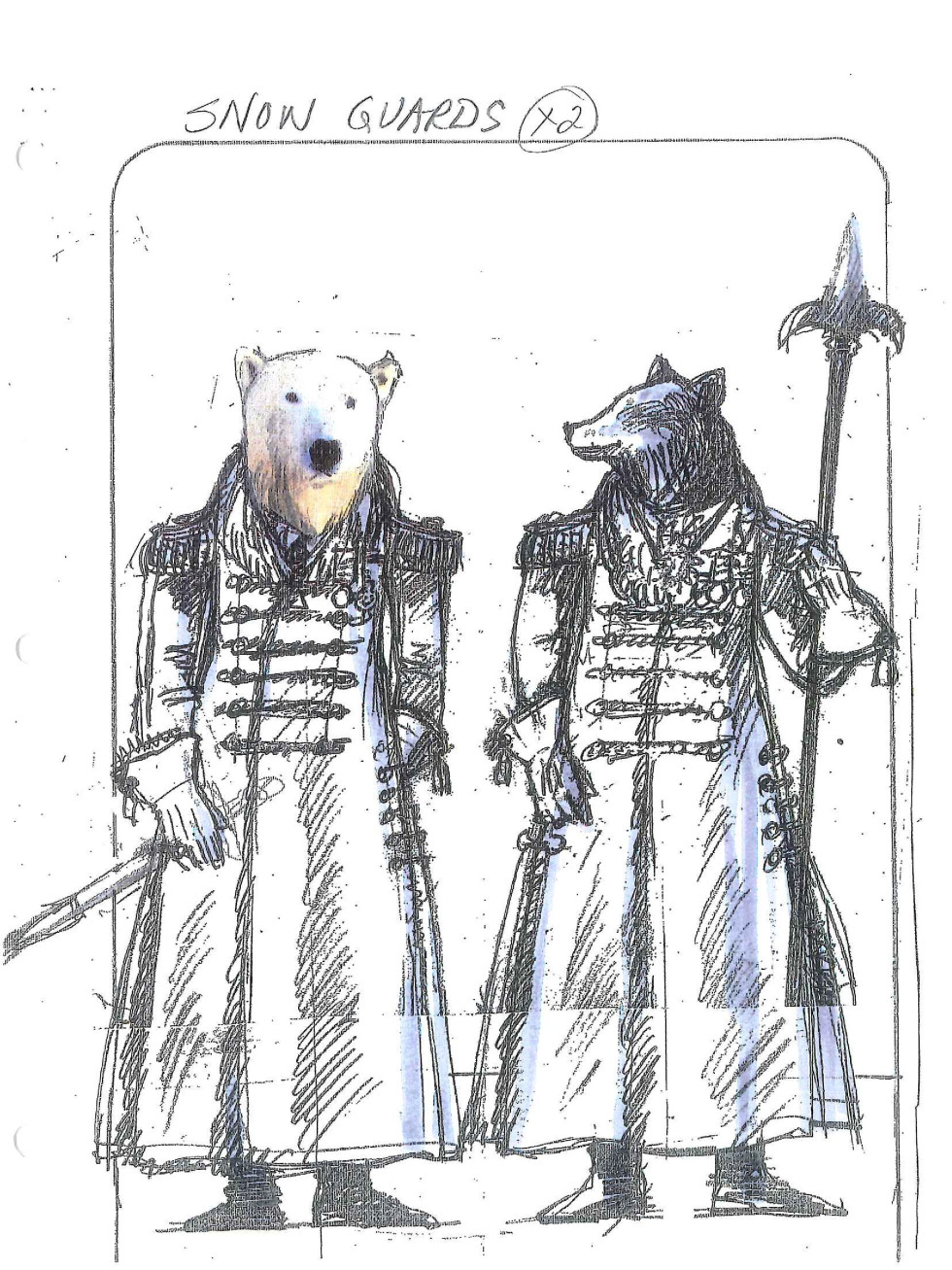 Houston Ballet new Nutcracker drawing of Snow Guards