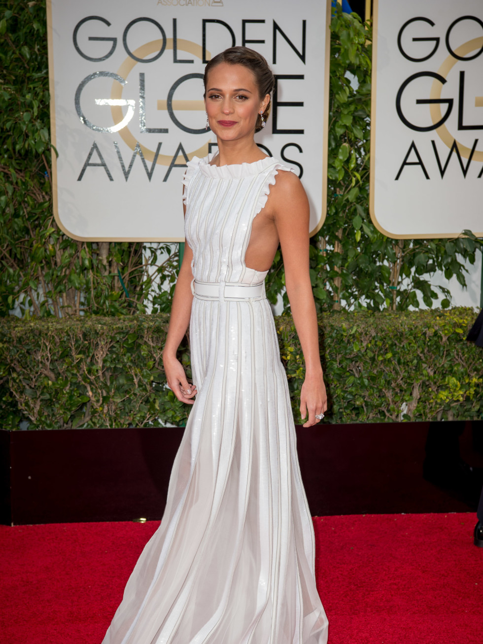 Alicia Vikander at Golden Globe Awards