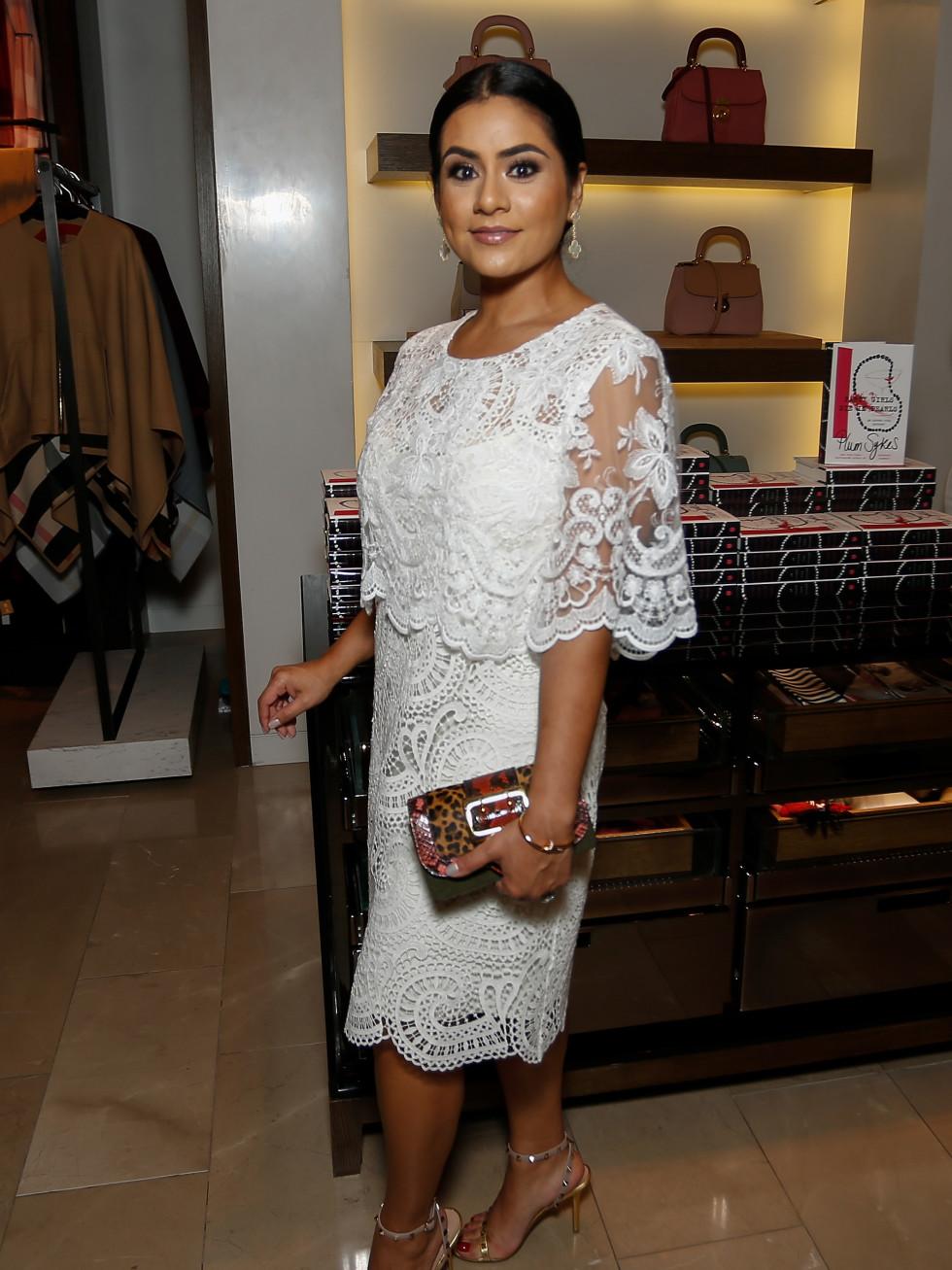 ELia Gabbanelli at Burberry Plum Sykes book party