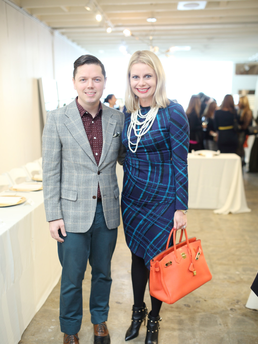David Peck, Valerie Palmquist Dieterich at Miles David fashion show