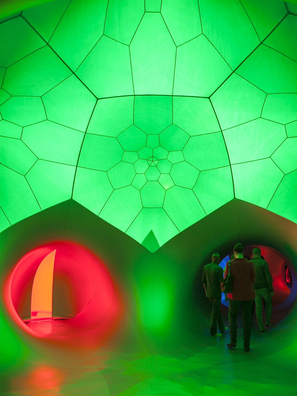 Architects of Air Luminarium Pentalum Long Center green 2015
