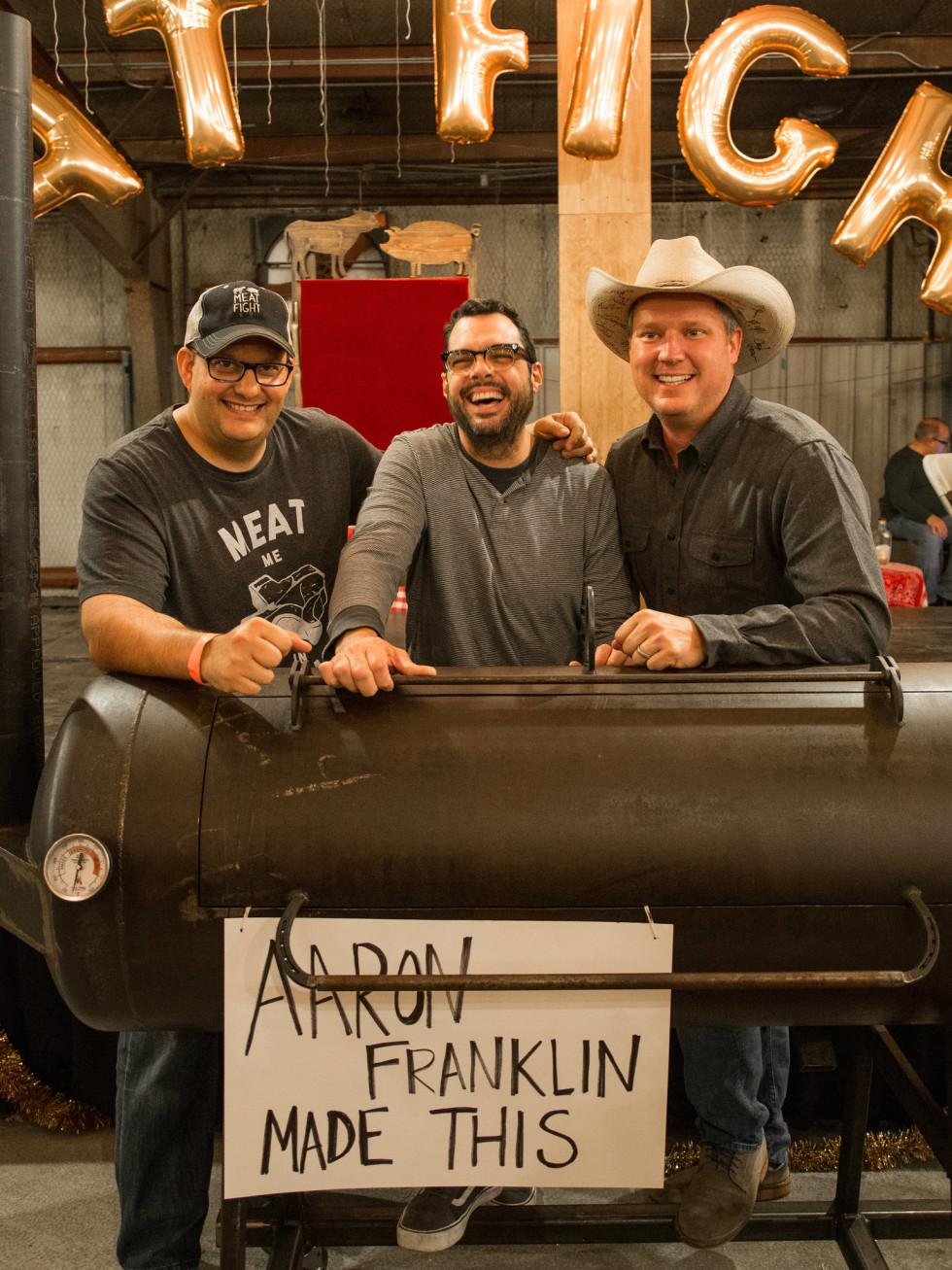 Daniel Vaughn, Aaron Franklin at Meat Fight 2015