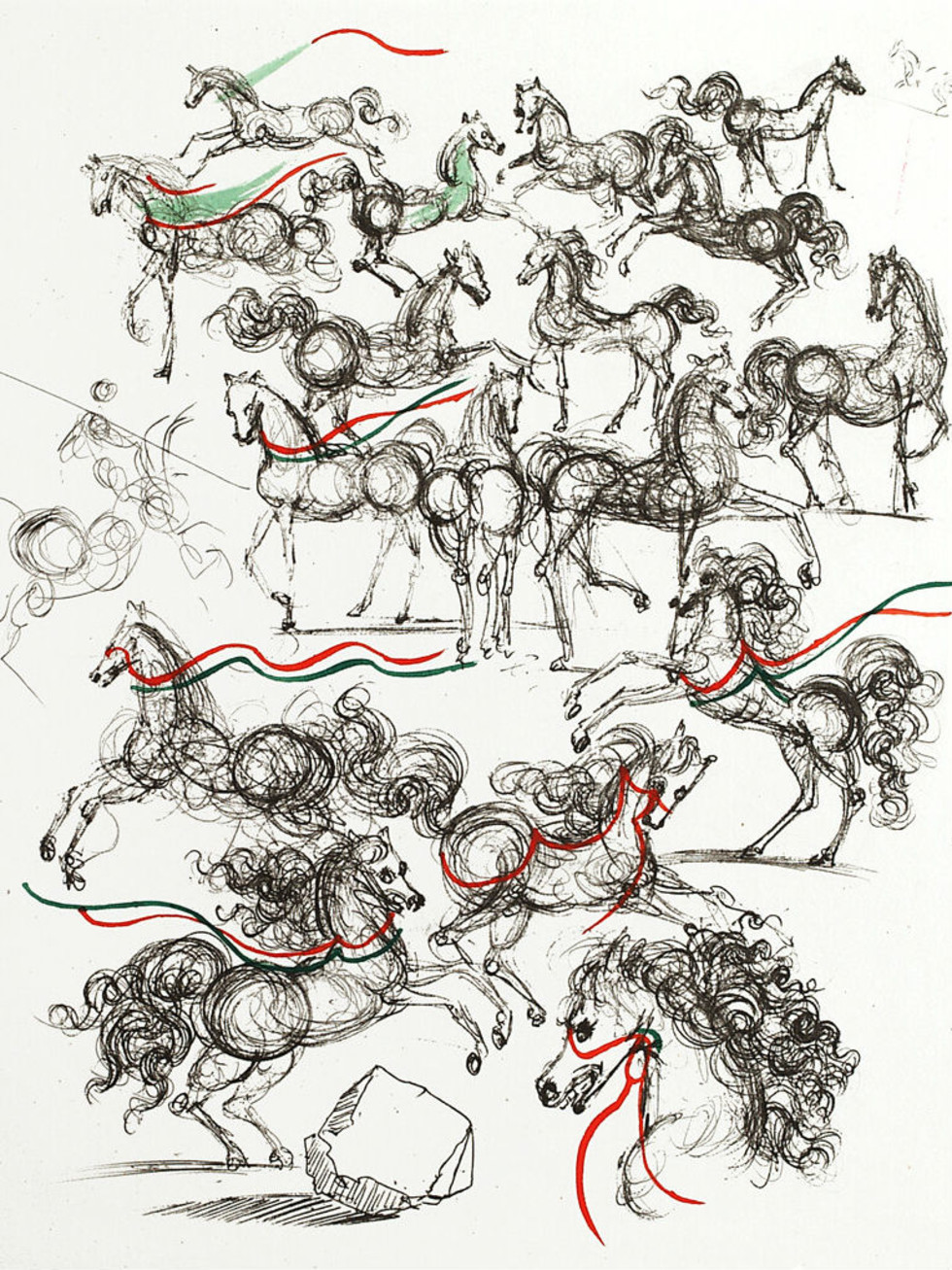 Salvador Dali Horses of Mao