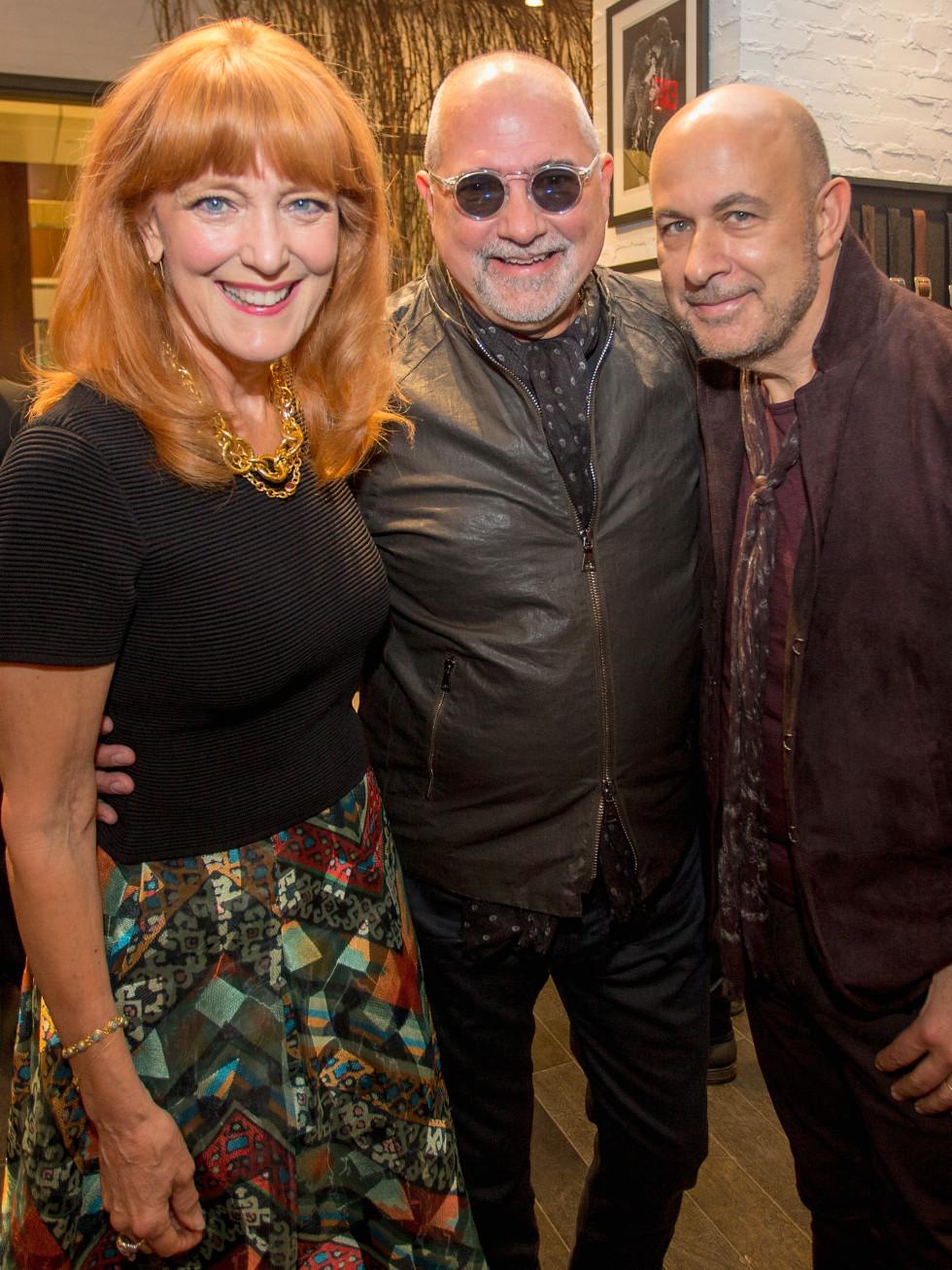 John Varvatos, Gracie and Bob Cavner at book signing