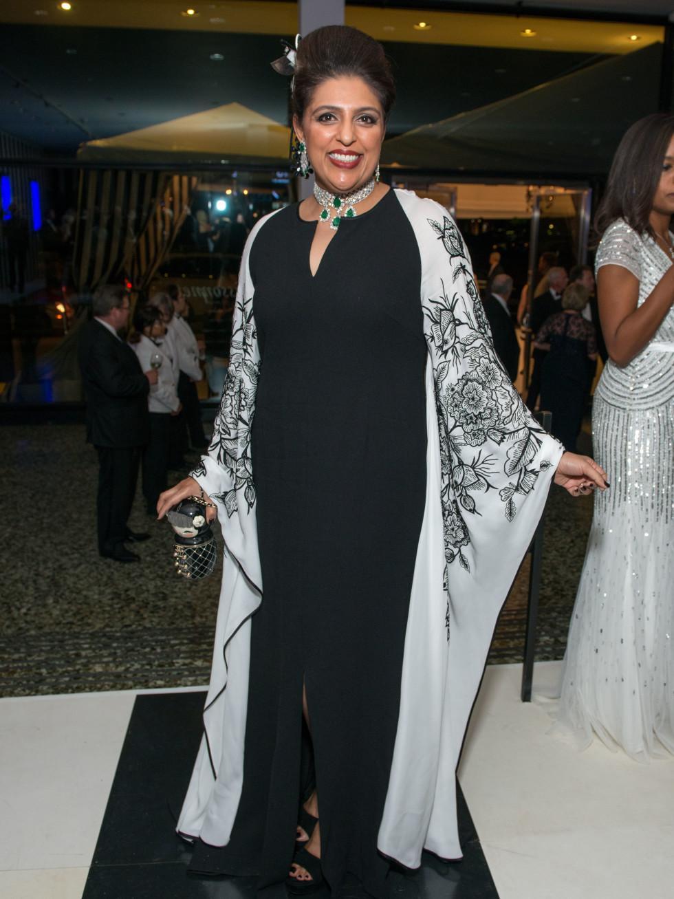 News, Shelby, MFAH gala gowns, Oct. 2015 Nidhika Mehta in Naeem Khan
